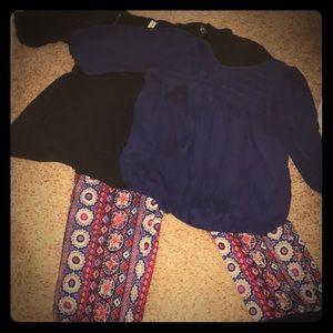 Women's 1X boho casual/comfort trio topx2 pantsx1